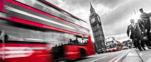 Türaufkleber London roten bus Londons traffic