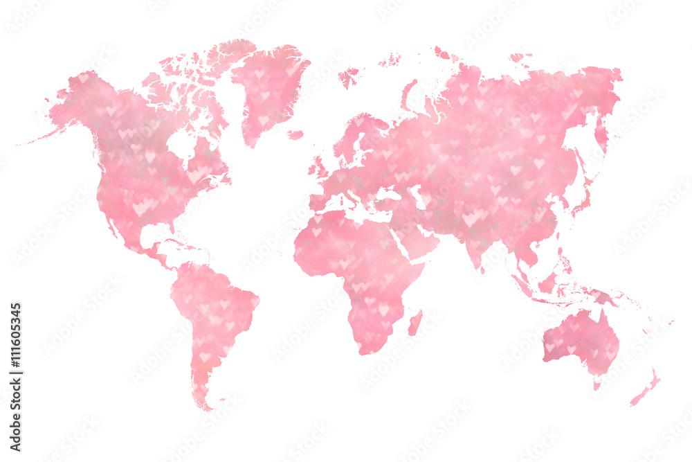 Weltkarte Fullte Mit Einer Fotografie Der Unscharfen Gebuchten