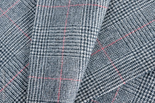 Photo  Glen plaid or Prince of Wales Check a woollen fabric  used in suits and jackets
