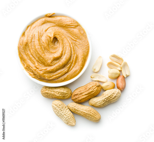 Creamy peanut butter and peanuts