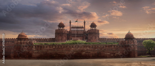 Fotografie, Obraz  View of Delhi Fortress