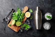 Mojito Cocktail Making