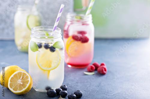 Fényképezés  Variety of lemonade in jars