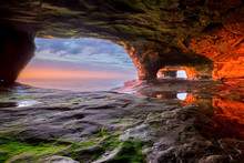 Sea Cave On Lake Superior At S...