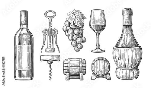 Fotografía  Wine set