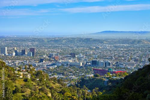 Fotografie, Obraz  Panoramatický výhled na West Hollywood
