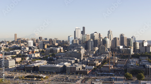 Keuken foto achterwand Seoel Seattle, WA City Skyline Panorama of the Downtown Financial District and Skyscrapers