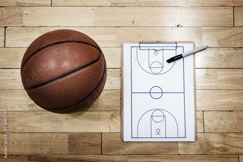 Plagát  Basketball Playbook Game Plan Sport Strategy Concepts