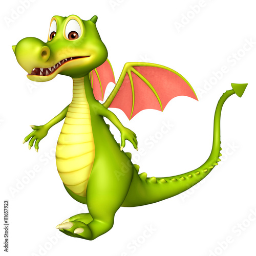 Photo Stands Draw cute Dragon funny cartoon character