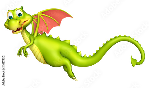 cute Dragon funny cartoon character