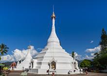 Wat Prathat Doi Kong Mu White Pagoda, Mae Hong Son, Thailand.