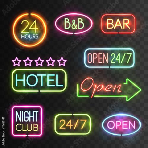 Neon Open Sign Set
