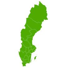 スウェーデン, 地図, 国, アイコン, 世界, 都市, 緑, エコ, エコロジー, 象徴, シンボル, ベクター, イラスト, 素材