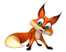 Fun Fox Funny Cartoon Character