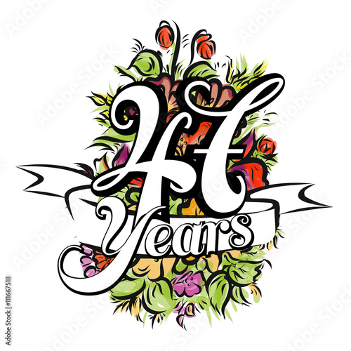 Poster  47 Years Greeting Card Design