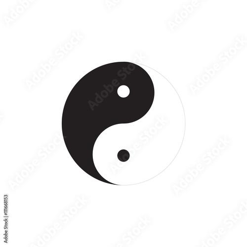 Jing jang symbol Wallpaper Mural