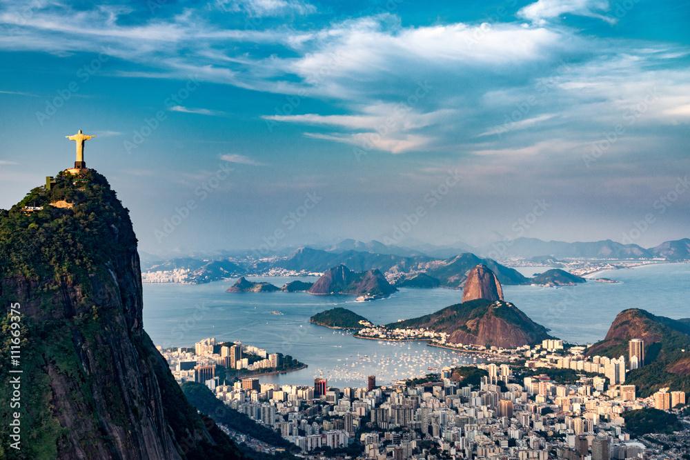 Fotografiet  Rio De Janeiro Aerial