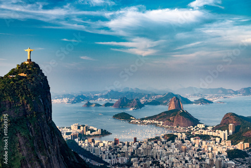 Stickers pour portes Brésil Rio De Janeiro Aerial