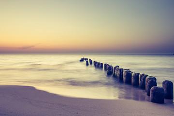 Naklejka Marynistyczny Piękny kolorowy wschód słońca nad Bałtykiem