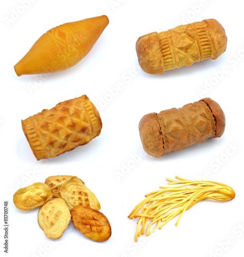 Plakat tradycyjne polskie wędzone sery - oscypki