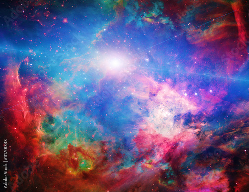 Tuinposter Heelal Galactic Space Elements of this image furnished by NASA