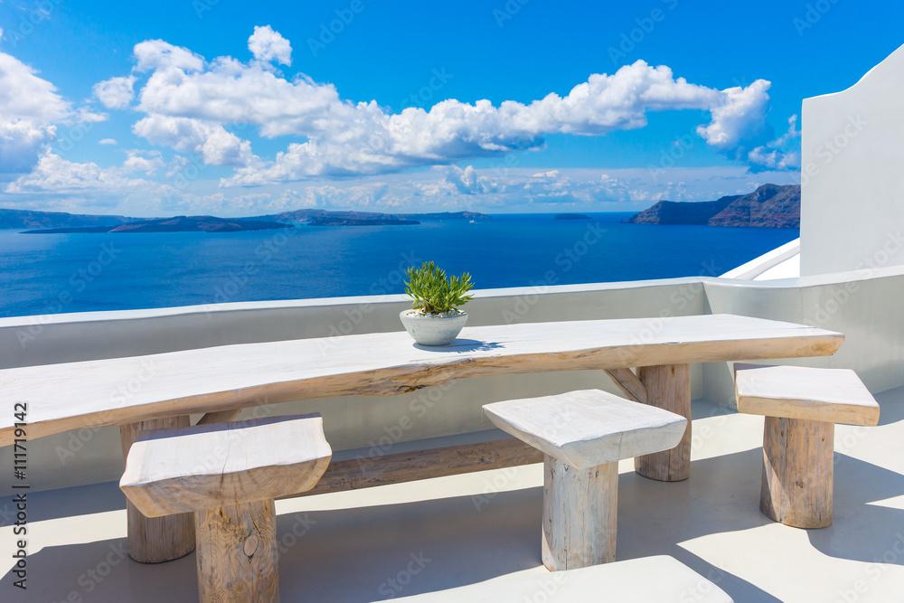 Fototapety, obrazy: Santorini wyspa, Oia, Cyklady, Grecja