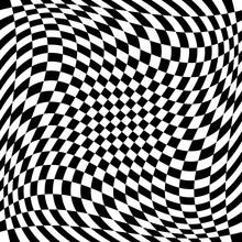 Checkered Pattern With Spiral,...