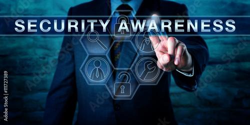 Fotografie, Obraz  Consultant Pressing SECURITY AWARENESS