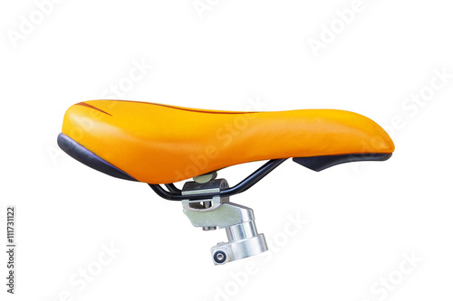 Photo sur Toile Velo bike seat on white Background