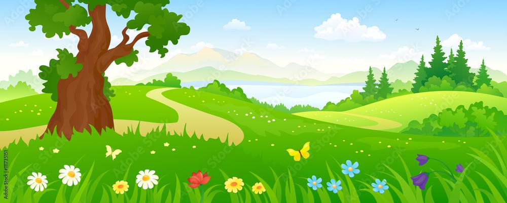 Fototapeta Cartoon forest