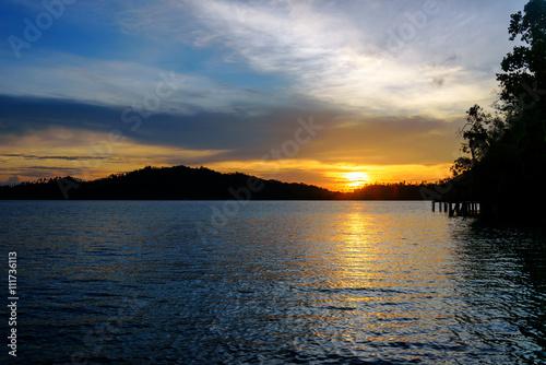 Foto op Plexiglas Indonesië Togean Islands at sunset. Indonesia.