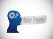 solar panel thinking brain sign concept