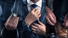 スーツを着ている男性...