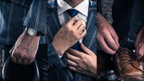 スーツを着ている男性,ファッション
