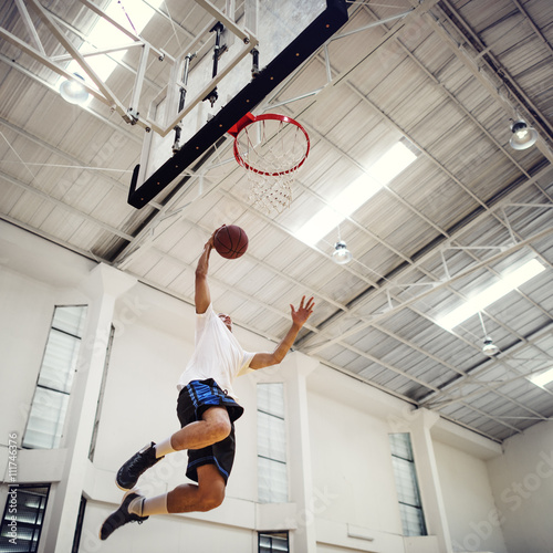 Basketball Bounce Competition Exercise Player Concept Wallpaper Mural