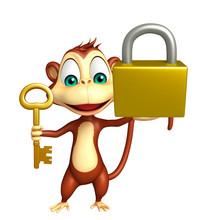 Fun Monkey Cartoon Character W...