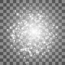 Glow Light Effect. Stardust On...