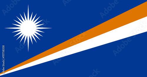 Flag of Marshall Islands Canvas Print