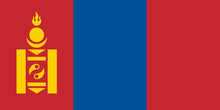 Flag Of Mongolia.