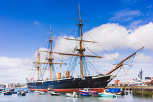 Historic Vessel At Portsmouth's Docks