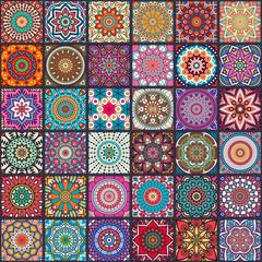 Fototapeta Boho Ethnic floral seamless pattern