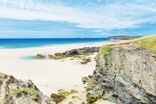 Popular St Ives Atlantic Ocean Coast, Cornwall, England, United