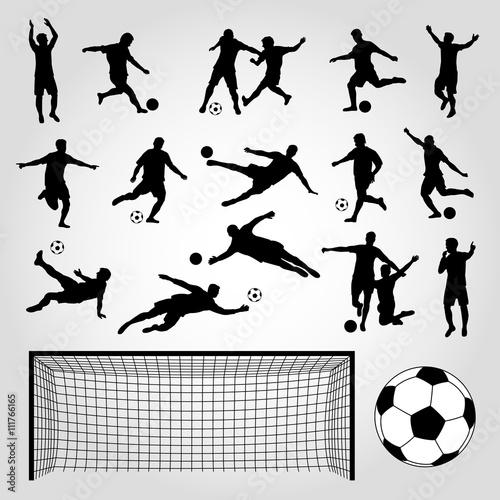 Fotografie, Obraz  Fußball Silhouetten