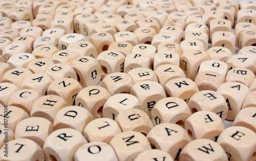 Buchstabenmix Canvas-taulu