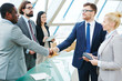 Business handshaking