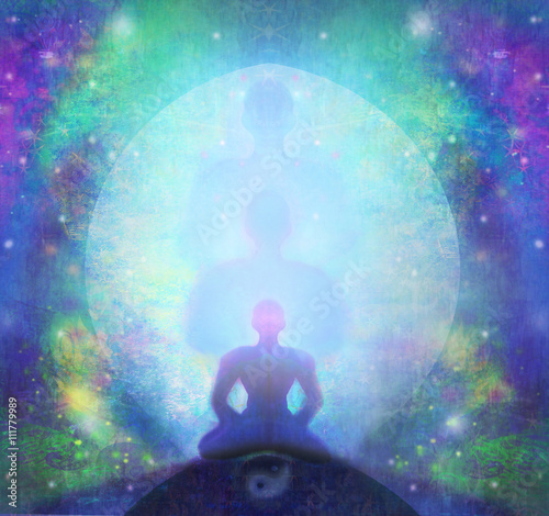 man meditate, yoga. Canvas Print
