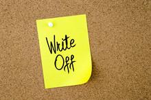 Write Off Written On Yellow Pa...