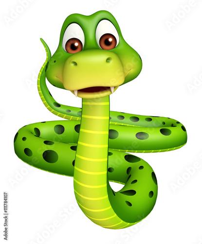 Fotografía  sitting Snake cartoon character