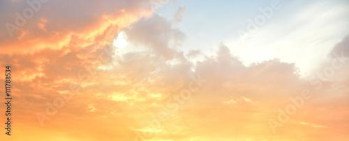Beautiful sky after the sunset