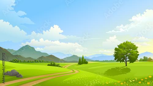 Dual lane path across vast and beautiful grasslands